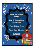 Back to School Fun and Friendship Activities Bundle Plus The Giving Tree