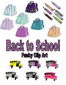 Back to School Funky Clip  Art