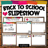 Back to School GOOGLE Slides Template-Curriculum Night, Open House, Parent Night
