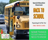 BACK TO SCHOOL Guide, Forms & Social Narrative * SPECIAL EDUCATION * Fillable