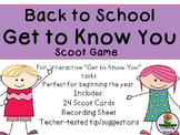 Back to School Game / Task Cards