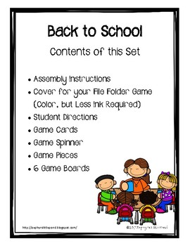 Back to School {Game Boards}