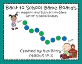 Game Boards - Addition and Subtraction Practice - Back to