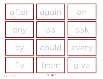 Game Boards - Dolch Sight Words Practice - Back to School Edition