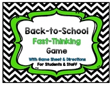 Back to School Game {Great for Students and Staff}