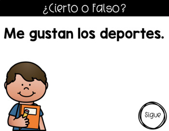 Back to School Game in Spanish