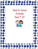 Back to School Getting-to-Know-You Activities - kindergarten, 1st, and 2nd grade