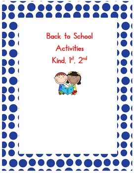 Back to School Getting-to-Know-You Activities - kindergart