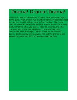 Drama fun and name game