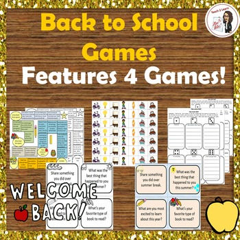 Back to School Games: Rules, Procedures, and Getting to Know Your Classmates