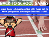 Back to School Games