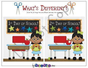 Back to School Games & Activities for Kindergarten, First and Second Grades