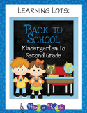 Back to School Games & Activities for Kindergarten, First