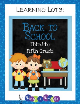 Back to School Games & Activities for Third, Fourth and Fifth grades