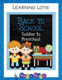 Back to School Games & Activities for Toddler and Preschool