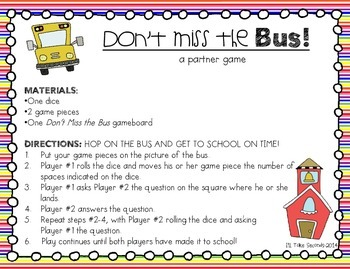 Back to School Games FREEBIE!!
