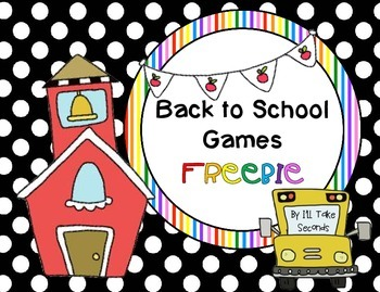 Back to School Games FREEBIE!!