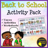 Back to School Games, Writing Templates, Art and Activities | 4th - 6th Grade