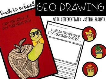 Back to School Geo Drawing