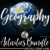 GEOGRAPHY ACTIVITIES BUNDLE