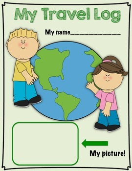 Back to School Geography Travel Log Activity