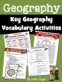 Back to School Geography Vocabulary Activities