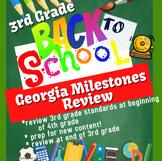 Back to School Georgia Milestones Review / Practice, 3rd Grade Math / NO PREP!