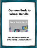 German Back to School Bundle: 5 Resources for Beginners (A1)
