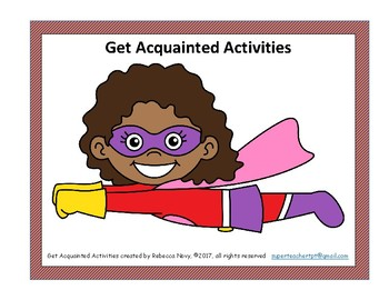 Back to School Get Acquainted Activities