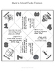 Back to School Get Acquainted Activity with Cootie Catcher and Poster