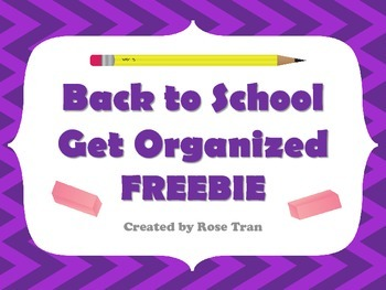 FREEBIE  School Supply Labels GET ORGANIZED!