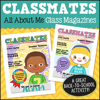 All About Me Class Magazines