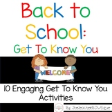 Back to School Get To Know You: 10 Engaging Get To Know Yo