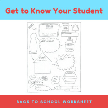 Back to School: Get To Know You (All About Me) Student Sheet
