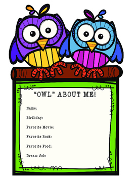 Back to School: Get to Know Me!