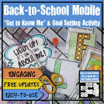 """Back to School """"Get to Know Me"""" & Goals Mobile {Grades 6-9}"""