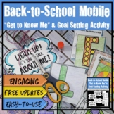 "Back to School Mobile - ""Get to Know Me"" & Goals Activity {Grades 6-9}"