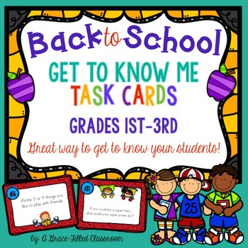 Back to School: Get to Know Me Task Cards