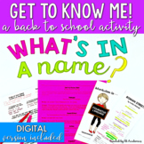 "Back to School ""Get to Know Me"" Writing Activity for Middl"