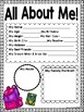 Back to School Get to Know Me and Activity Book