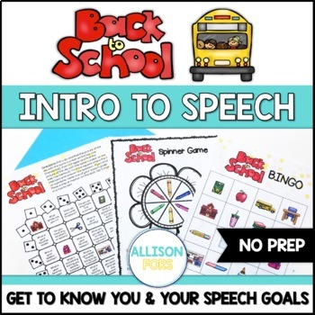 Back to School: Get to Know You & Your Speech Goals