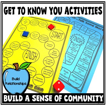 Back to School Get to Know You Activities