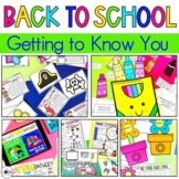 Back to School Get to Know You Activities | First Week of