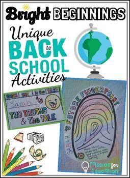 Back to School ~ Get to Know You Activities ~ Team Building Activities!