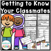 Back to School | Get to Know You Activities | Writing Prom