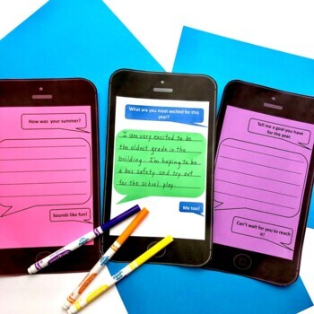 Back to School Get to Know You Activities with Messages