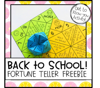 Back To School Get To Know You Activity By Sweet Times In Elementary