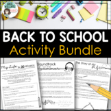 """Back to School """"Get to Know You"""" Activity Bundle"""