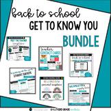 Back to School Get to Know You Bundle - Editable - Google Slides