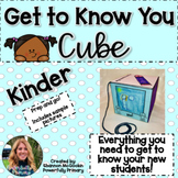 Back to School | Get to Know You Cube | Kindergarten